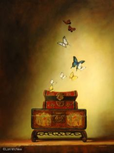 ©2007 Lori McNee Hope Floats 36x24 Oil on panel