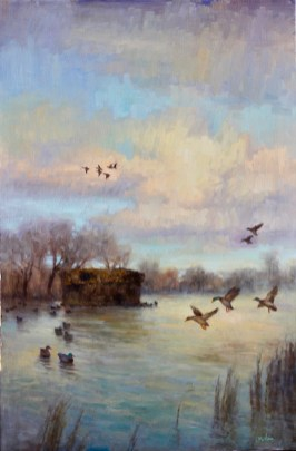 ©2019 Lori McNee A Good Day for Ducks30x20oil on canvas