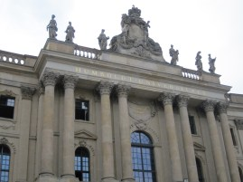 Humboldt University where one of the first Nazi book burnings take place. On the anniversary every year they turn the entire Platz into a book fair.