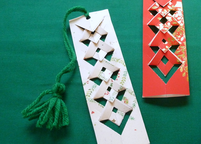 Upcycled Christmas Card Bookmarks Lori Miller Designs