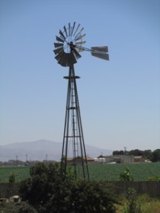 The old windmill on the Pessagno Winery property harkens back to the agriculture history of the region.