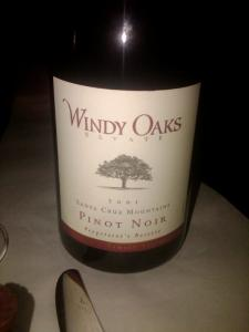 Windy Oaks Estate 2001 Pinot Noir, Proprietor's Reserve, Santa Cruz Mountains, Schultze Family Vineyard