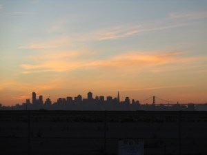 San Francisco skyline from Rock Wall Winery