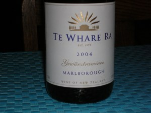 Te Whare Ra 2004 Gewürztraminer, Marlborough, New Zealand