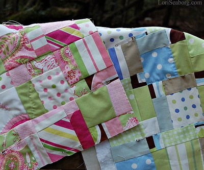 A Handmade Christmas:  How to Make a Disappearing Nine Patch Quilt Top