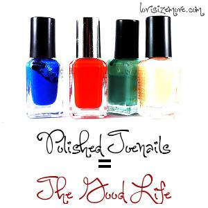 Polished toenails equal the good life