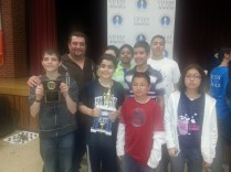 Mr. Freydin and his award winning Chess team in 2012.
