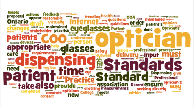 COO Proposed Standards Allow On-Line Eyeglass Selling