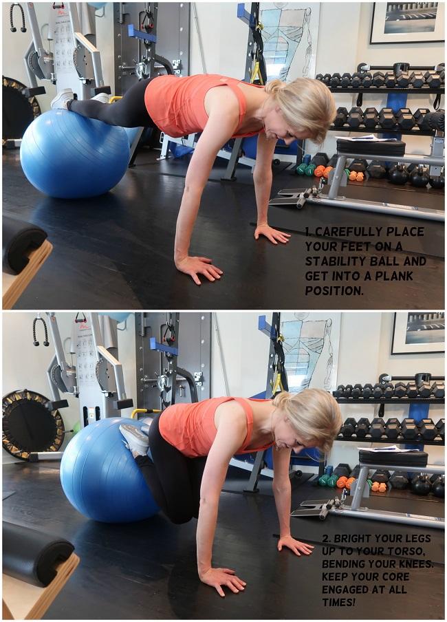 ball-plank-knee dives