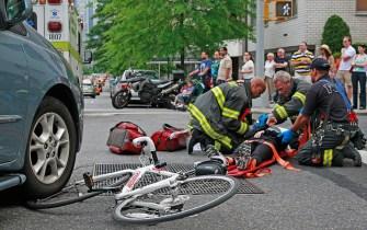 ACCIDENTES ENTRE COCHES Y CICLISTAS