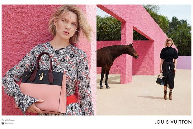 Lea Seydoux For Louis Vuitton Spirit Of Travel Ad Campaign
