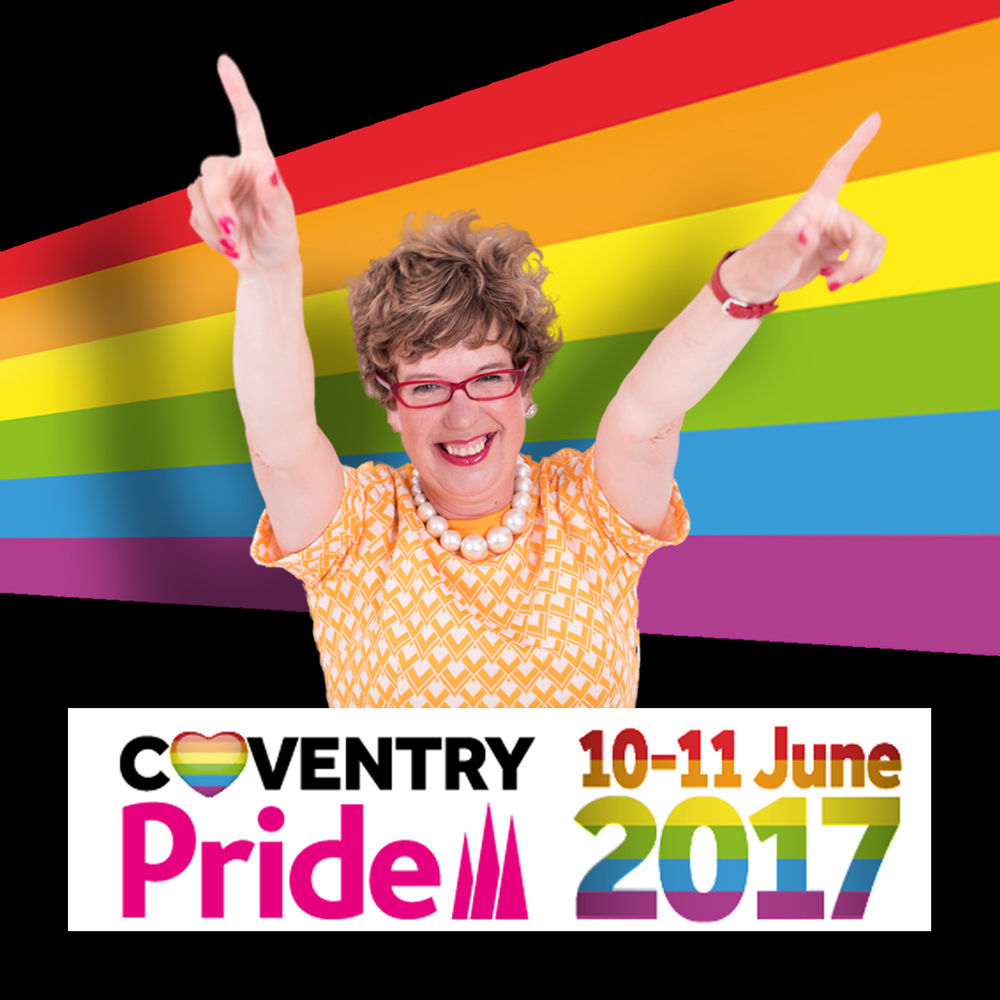 Lorraine Bowen at Coventry Pride