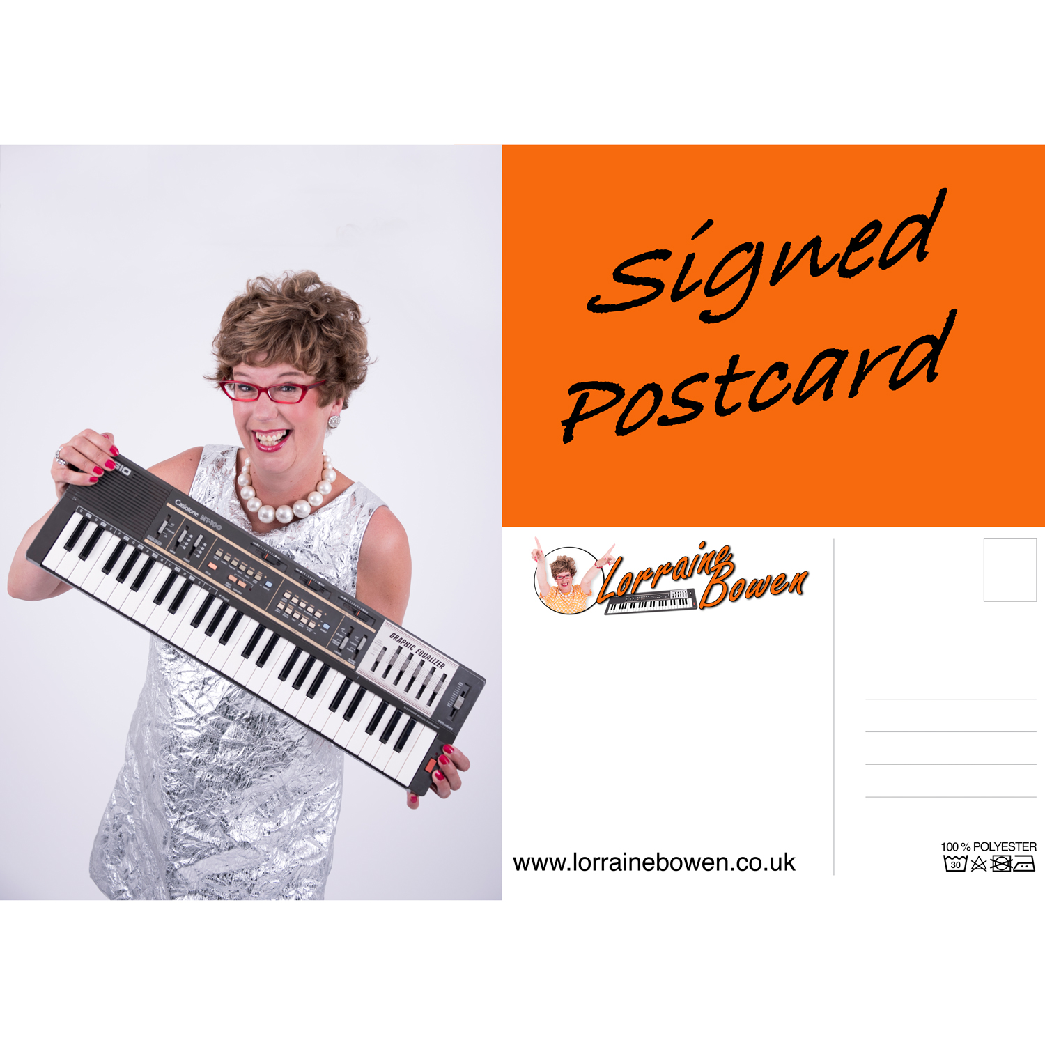 Signed Glossy Postcard