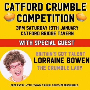 Lorraine Judges the 2nd Annual Catford Crumble Competition