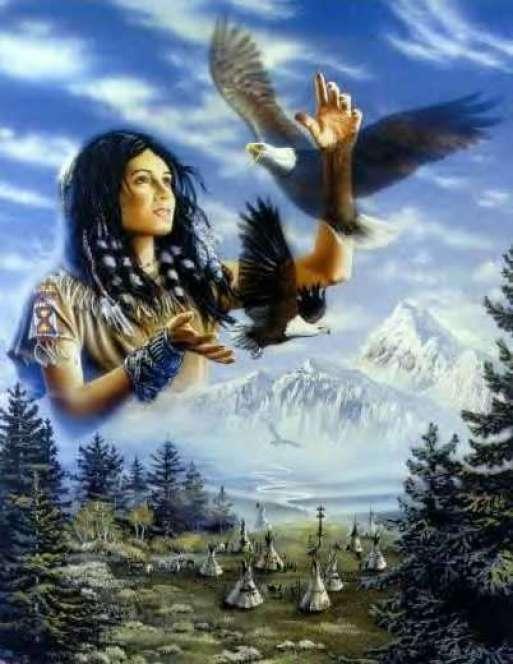amerindienne-aigle