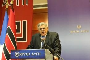 Prise de parole de Nikos Michaloliakos