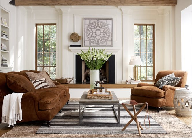 Brown Living Room Table
