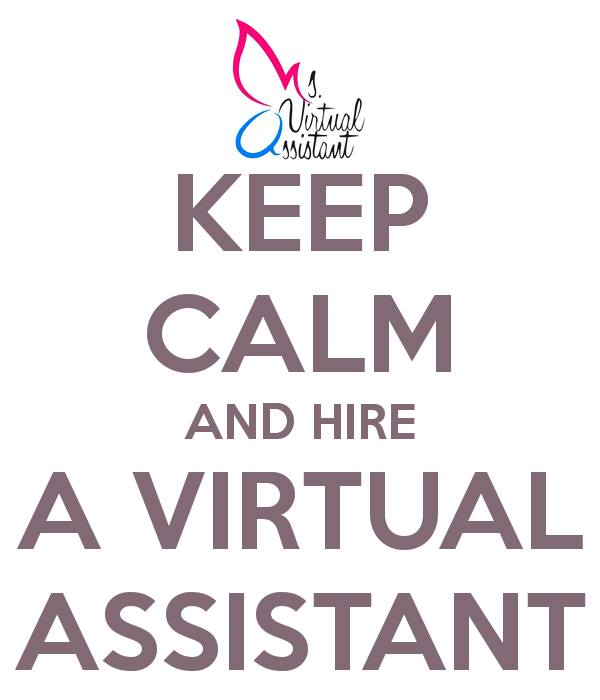 Keep calm and hire Virtual Assistant Lorrie Syms