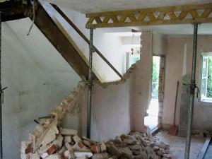 Baustelle Erdgeschoss