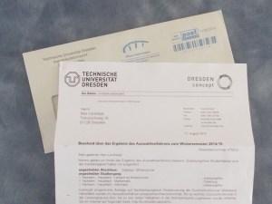 Zulassung TU Dresden