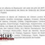 POR FIN¡¡¡¡ SE EMITE ALERTA DE VIOLENCIA DE GENERO EN PUEBLA