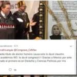 LAURA BOZZO SE DEFIENDE ANTE CRITICAS DE SU HONORIS CAUSA RECIBIDO EN CONGRESO DE CDMX