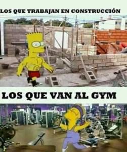 albañiles en el gym