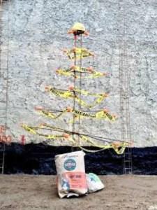 arbol navidad albañil cemento
