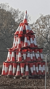 arbol navidad albañil conos