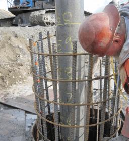 Colado del concreto para superficies horizontales