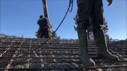 Vaciado de concreto sobre superficies inclinadas