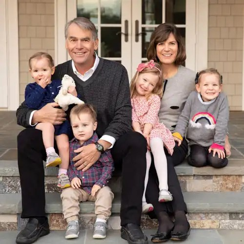 Legacy Circle members, Shelley & Steve Brown, with their grandchildren.