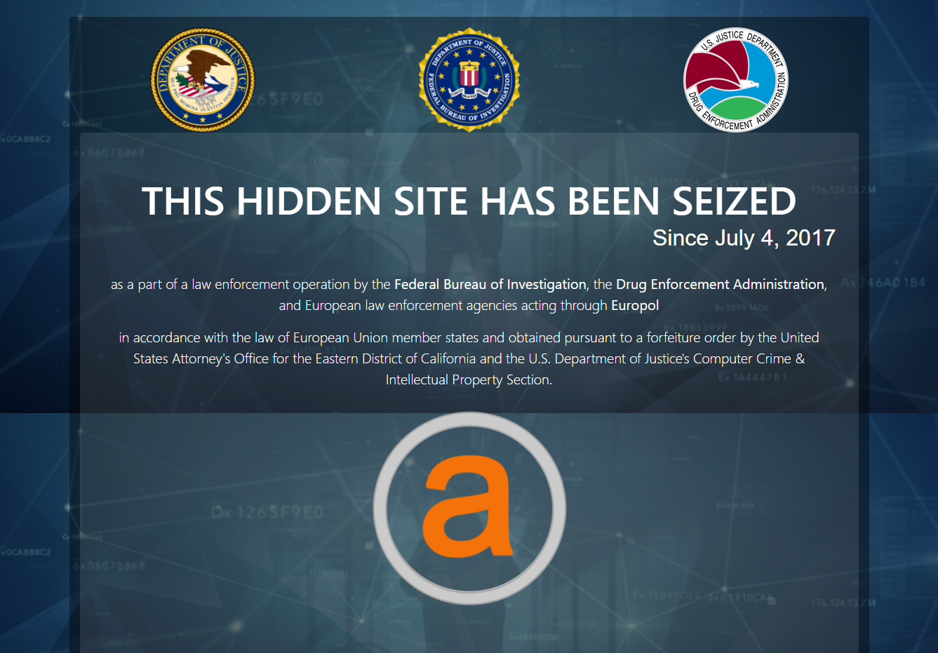 AlphaBay Dark web marketplace for all things evil is shut down