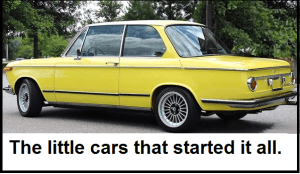BMW 2002 yellow BMWCCA LA
