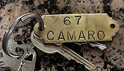 67 camaro keyring