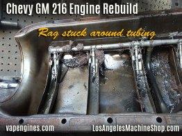 GM 216 oil pan clog