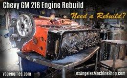 Rebuilt Chevy GM 216 engine