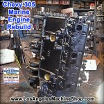 Remanufactured chevy 305 marine engine