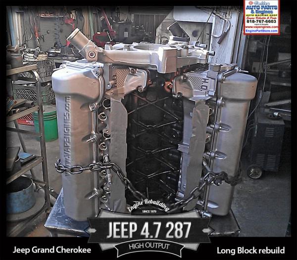 Rebuilt Jeep cherokee 4.7 V8 16V rebuilt engine