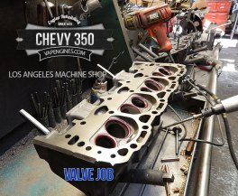 Chevy 350 valve job cylinder head