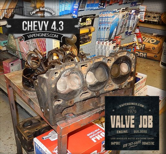 Chevy GM 4.3 valve job repair