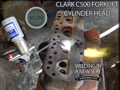 welding forklift cylinder head