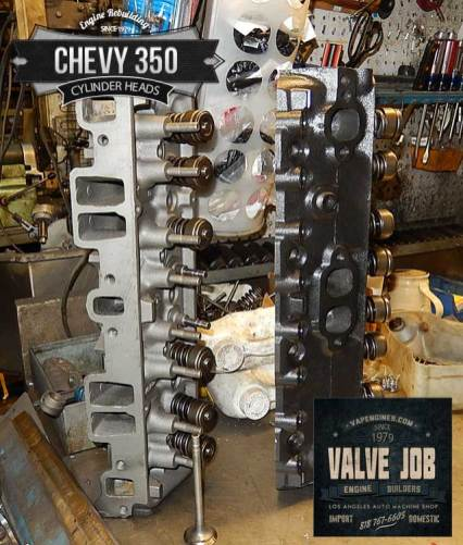 gm chevy 350 5.7 valve job cylinder head repairs