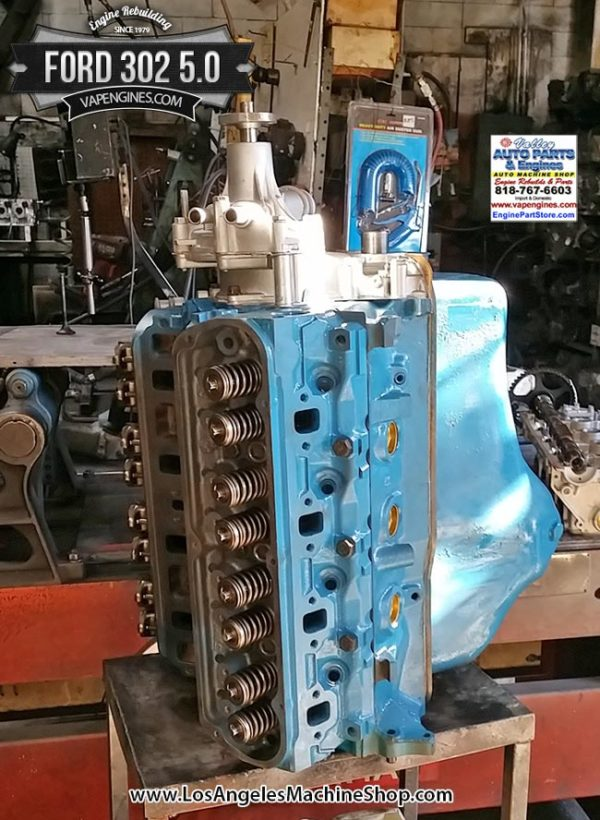 Remanufactured Ford 302 5.0 engine.