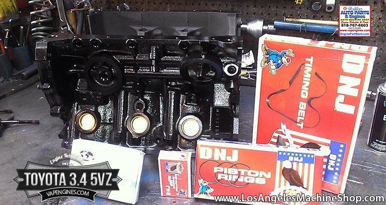 Toyota 5VZ 3.4 V6 short block engine rebuild.
