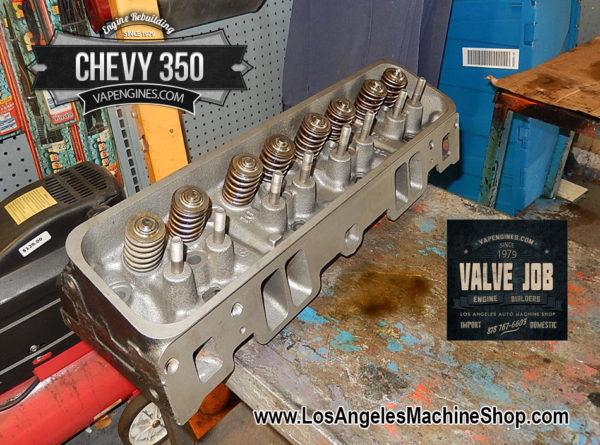 Completed Valve Job on Chevy 350 cylinder head.