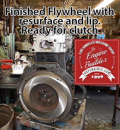 resurfaced flywheel on Toyota 20R long block