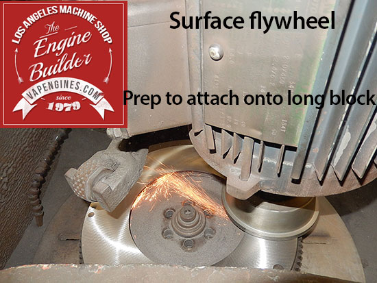 flywheel grinding to smooth surface