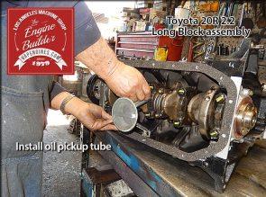 attach oil pickup tube