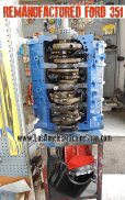 remanufactured ford 351 engine with gaskets and parts